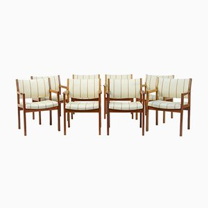 Vintage Teak Armchairs from Søborg Møbelfabrik, Set of 8