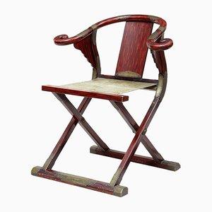 Folding Horseshoe Armchair, 1920s