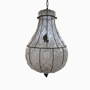 Venetian Blown-Glass Pendant Lamp, 1970s