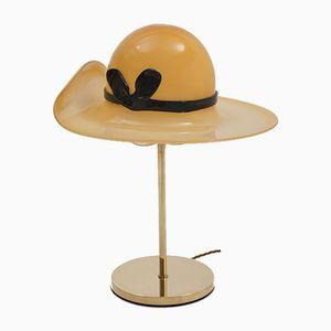 Vintage Hut Tischlampe aus Muranoglas, 1970er