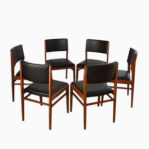 Scandinavian Teak Chairs by Gerhard Berg, 1960s, Set of 6