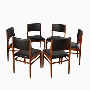 Skandinavische Stühle aus Teak von Gerhard Berg, 1960er, 6er Set