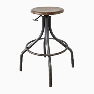 Vintage Grey Adjustable Stool