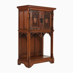 Dutch Carved Oak Cabinet, 1930s