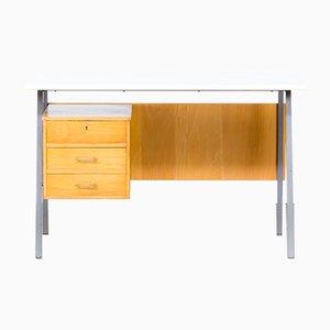 Schreibtisch aus Metall und Holz mit Resopalplatte, 1970er