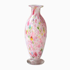 Antique French Clichy Pink Art Glass Crystal Vase