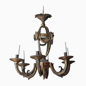 Antiker französischer Rokoko Kronleuchter aus Bronze