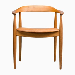Mid-Century Danish Oak Chair by Illum Wikkelsø for Niels Eilersen