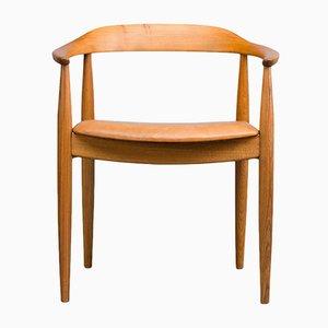 Mid-Century Danish Oak Chair by Illum Wikkelsø for Niels Eilersen