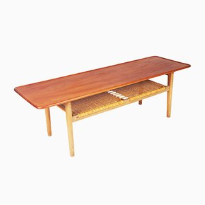 Mid-Century AT-10 Coffee Table in Teak by Hans J. Wegner for Andreas Tuck