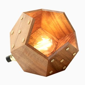 Basic TWELVE Solo Table Lamp in Walnut from Plato Design
