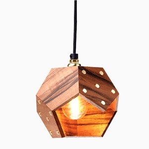 Lampe à Suspension Basic TWELVE Solo en Noyer de Plato Design
