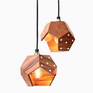 Lampe à Suspension Basic TWELVE Duo en Noyer de Plato Design