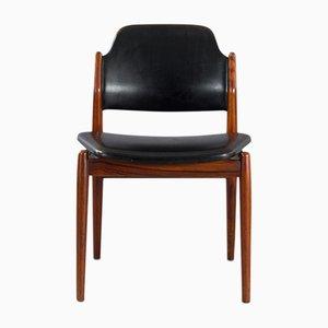 Sedia nr. 62 in teak e pelle di Arne Vodder per Sibast, anni '50