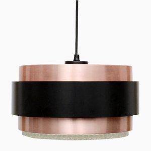 Lampe à Suspension Saturn en Cuivre par Johannes Hammerborg pour Fog & Morup, 1960s