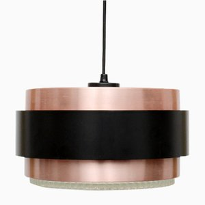 Saturn Copper Pendant Lamp by Johannes Hammerborg For Fog & Morup, 1960s
