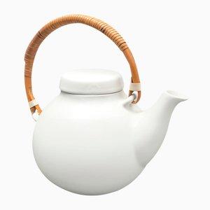 Weiße Teekanne von Ulla Procopé für Arabia, 1960er