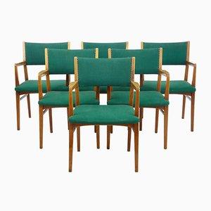 Moderne skandinavische Armlehnstühle, 1960er, 6er Set