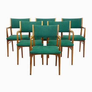 Scandinavian Modern Armchairs, 1960s, Set of 6