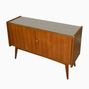 Walnut & Glass Sideboard, 1960s