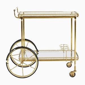 Danish Brass Bar Cart, 1960s