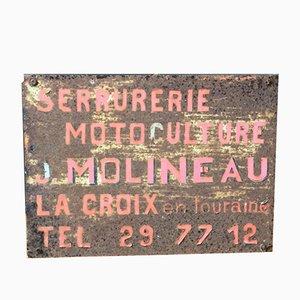 Französisches Vintage Metallschild