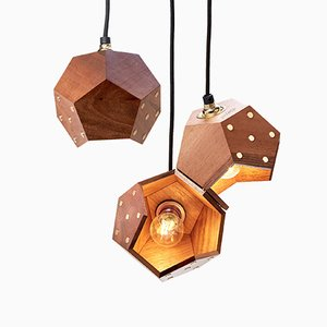 Basic TWELVE Trio Walnut Pendant Lamp from Plato Design