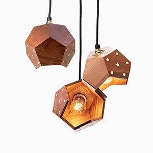 Basic TWELVE Trio Walnut Pendant Lamp from Plato Design