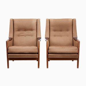 Moderne skandinavische Armlehnstühle, 1960er, 2er Set