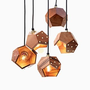 Basic TWELVE Quintet Walnut Pendant Lamp from Plato Design
