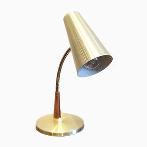 Danish Brass Table Lampm 1960s