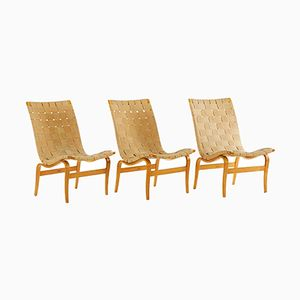 Swedish Eva Chairs by Bruno Mathsson for Karl Mathsson, 1941, Set of 3