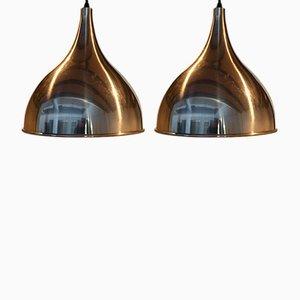 Lámparas colgantes vintage de Jo Hammerborg para Fog & Mørup. Juego de 2