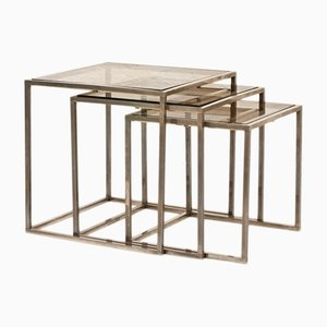 Set of 3 Two-Tone Nesting Tables, 1970s
