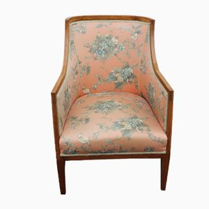 Floral Occasional Armchair with Inlay, 1920s