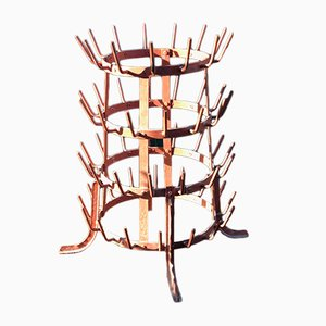 French Burgundy Bottle Rack, 1950s