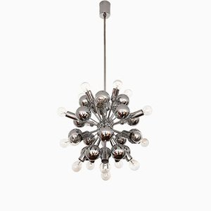 Lámpara de araña Sputnik plateada de Cosack, años 70