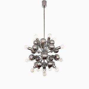 Silver Sputnik chandelier from Cosack, 1970s