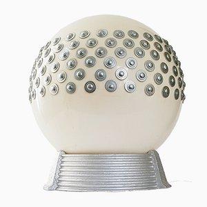 Lámpara de mesa francesa era espacial de yeso, acero y plexiglás de Arlus, años 70