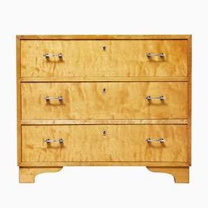 Mid-Century Swedish Birch Chest of Drawers