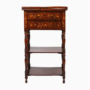 Antique Dutch Marquetry Bi-Fold Table