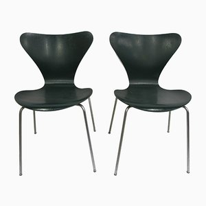 Modell 3107 Stühle in Schmetterling-Optik von Arne Jacobsen für Fritz Hansen, 1969, 2er Set