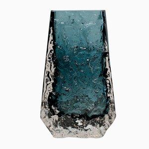 Indigoblaue Coffin Vase von Geoffrey Baxter für Whitefriars, 1960er