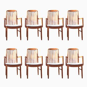 Chaises de Salle à Manger en Teck par Benny Linden, 1970s, Set of 8
