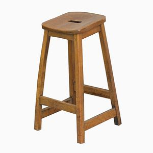Elm Machinist's Stool, 1950s