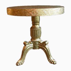Dreibeiniger goldener Vintage Tisch