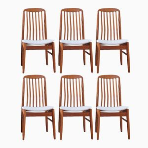 Teak Dining Chairs by Benny Linden, 1970s, Set of 6