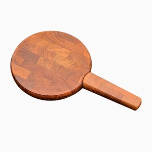 Teak Cheese Board and Knife by Jens Quistgaard for Dansk Design, 1950s
