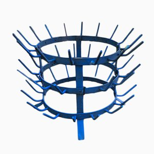 Vintage Blue French Bottle Rack
