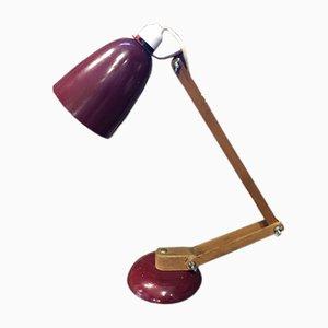Vintage Maclamp Tischlampe in Burgunderrot von Terence Conran für Habitat